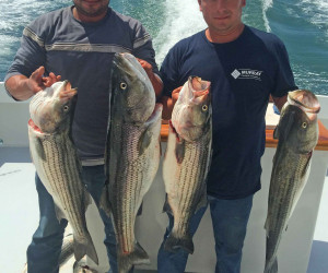Great Striper fishing with Southbound Charters