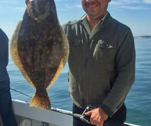 Fluke fishing aboard Southbound Charters