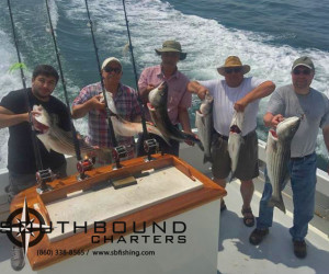 Striper fishing on Southbound Charters