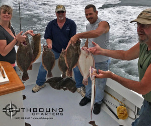 Fluke fishing in Waterford CT with Southbound Fishing Charters