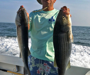 Striper fishing with Southbound Fishing Charters out of Waterford, CT